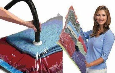 Economisiți până la 75% spațiu în dulap cu noii saci vacuum