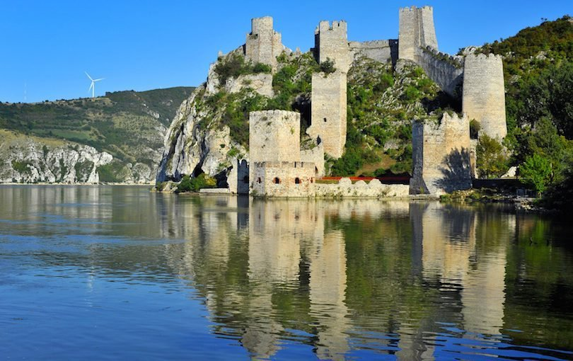 Old medieval town Golubac fortress, Serbia